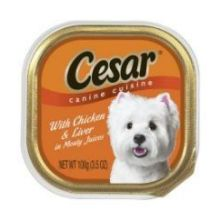 Cesar Canine Cuisine Chicken and Liver in Meaty Juice