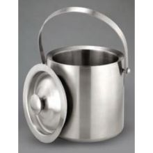 Stainless Steel Double Wall Ice Bucket with Dome Cover