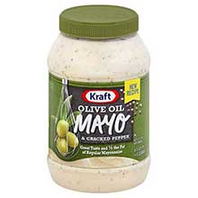 Mayonnaise with Olive Oil and Cracked Pepper
