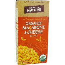 Back To Nature Organic Elbow Macaroni and Cheese Mfg 40010