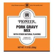 Pioneer Pork Gravy Mix