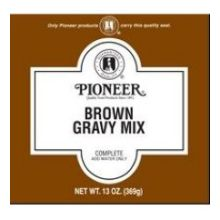 Pioneer Light Brown Gravy Mix