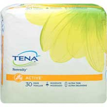 Tena Serenity Active Ultra Thin Moderate Pads 30 ct. Pack
