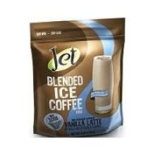 Jet Tea No Sugar Added Vanilla Latte Blended Iced Coffee Mix