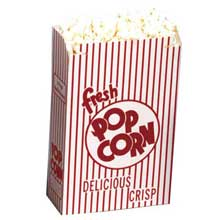 Red and White Automatic Bottom Popcorn Box