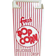 Red Automatic Bottom Popcorn Box with Hook