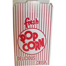 Red Automatic Bottom Popcorn Box with Reclose Tab