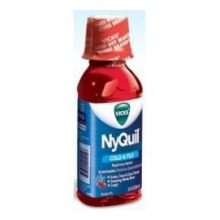 Vicks Nyquil Cherry Cold and Flu Relief Cough Liquid