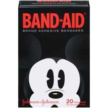 Band-Aid Brand Adhesive Bandages Mickey Assorted Decorated 20 Ct