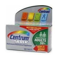 Centrum Silver Tablet Multivitamin and Multimineral Supplement for Adult 50 Plus