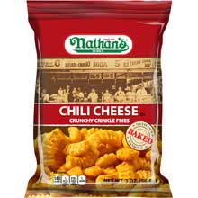 Nathans Crinkle Cut Chili Cheese Fry