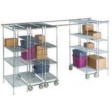 High Density Shelving System Mobile Unit Kit