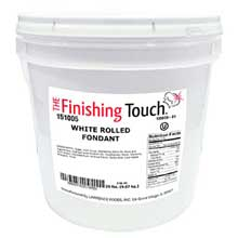 White Rolled Fondant Pail