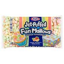 Jet Puffed Funmallows Colored Mini Marshmallows,10 Ounce
