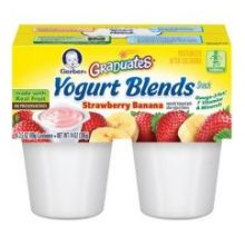 Strawberry Banana Fruit and Yogurt Blends
