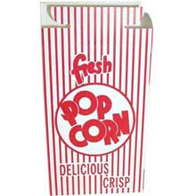 Red Automatic Bottom Popcorn Box with Hook and Eye Reclose Top