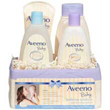 Aveeno Baby Bathtime Solutions Baby and Mommy Gift Set 4 ct Basket