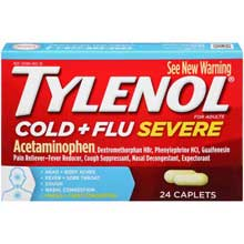 Tylenol Cold plus Flu Severe for Adults 24 ct Box