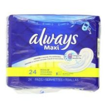Maxi Regular Unscented Pads without Wings