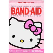 Band-Aid Brand Adhesive Bandages Hello Kitty Decorated Assorted Sizes 20 ct Box