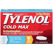 Tylenol Cold Max Multi-Symptoms Day Caplets 24 ct Box