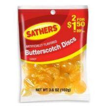 Butterscotch Discs Candy 3.6 Ounce