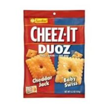 Duoz Cheddar Jack and Baby Swiss Cracker