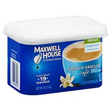 French Vanilla Decaffeinated Instant Drink