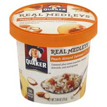 Oatmeal Real Medley Peach Almond Cup