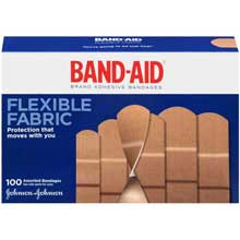 Band-Aid Brand Flexible Fabric Adhesive Bandages Assorted Sizes 100 ct. Box