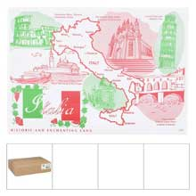 Italia Heavy Weight Stock Designs Bond Paper Placemat