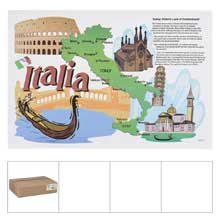Italia Landmarks Heavy Weigh Stock Designs Bond Paper Placemat
