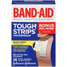 Band-Aid Tough Strips Waterproof 26 ct