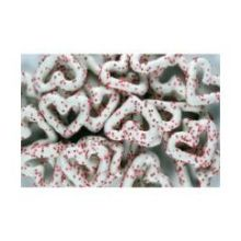 Bulk Frosted Non Pareil Chocolate Heart Pretzel