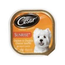 Sunrise Canine Cuisine Chicken and Cheddar Cheese Souffle in Meaty Juices Dog Food