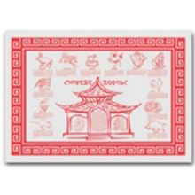 Zodiac Red Stock Printed Placemat