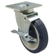 Universal Plate Caster Set with Brake