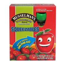 Squeezables Unsweetened Apple Sauce