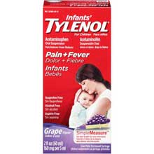 Infants Tylenol PainplusFever Grape Flavor Acetaminophen Oral Suspension 2 fl. oz. Box