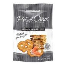 Sea Salt and Cracked Pepper Pretzel Crisps