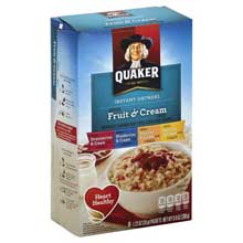 Instant Oatmeal Fruit and Cream Variety Pack