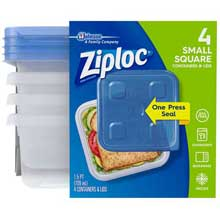 Small Round One Press Food Stooge Container