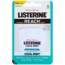 Listerine Cool Mint Mint Floss 55 yd. Pack