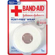 Johnson and Johnson Band-Aid 1 in.Hurt-Free Wrap 2.3 yd. Roll