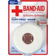 Johnson and Johnson Band-Aid Medium 2 in.Hurt-Free Wrap 2.3 yd. Roll