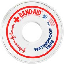Johnson and Johnson Band-Aid 0.5 in. Heavy-Duty Waterproof Tape 10 yd. Roll