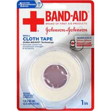 Johnson and Johnson Band-Aid Small 1 in. Cloth Tape 10 yd. Roll
