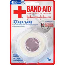 Johnson and Johnson Band-Aid 1 in. Small Paper Tape 10 yd. Roll