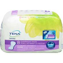 Tena Serenity Ultimate Long Overnight Pads 8 ct Pack