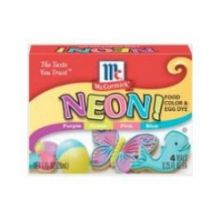 Neon Assorted Food Coloring and Egg Dye